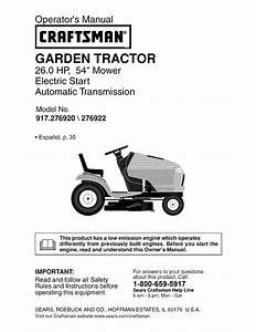 Craftsman Lawn Mower 917 276920 User Guide