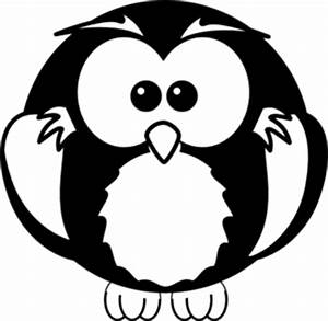 Baby Owl Clipart Black And White | Clipart Panda - Free ...