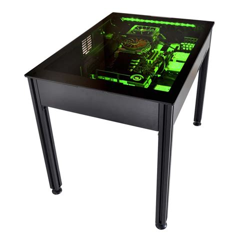 lian li computer desk lian li to show dk q2 desk pc chassis at cebit 2015