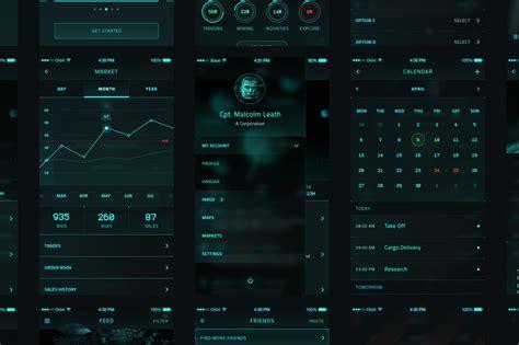 orbit scifi ui kit web elements  creative market