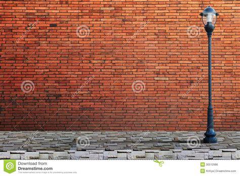 l post street on brick wall royalty free stock image