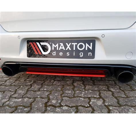maxton design maxton design central rear diffuser vw golf