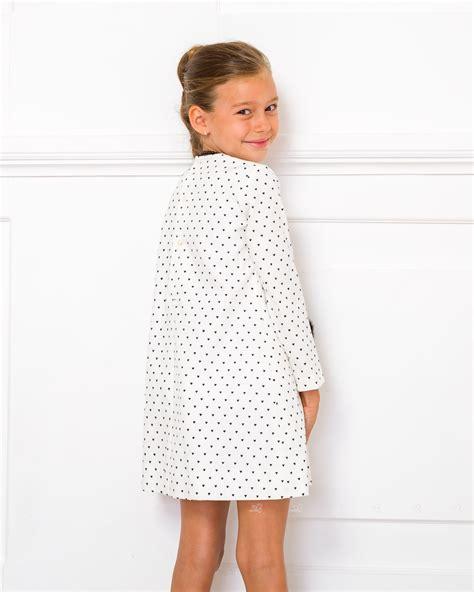 Outfit Vestido Estampado Corazones Blanco u0026 Negro | Missbaby