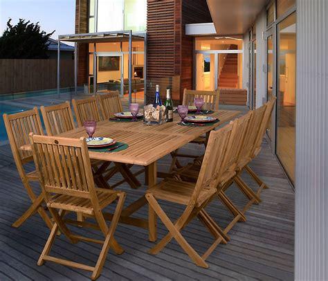 amazonia adelaide  pc teak wood rectangular patio dining set