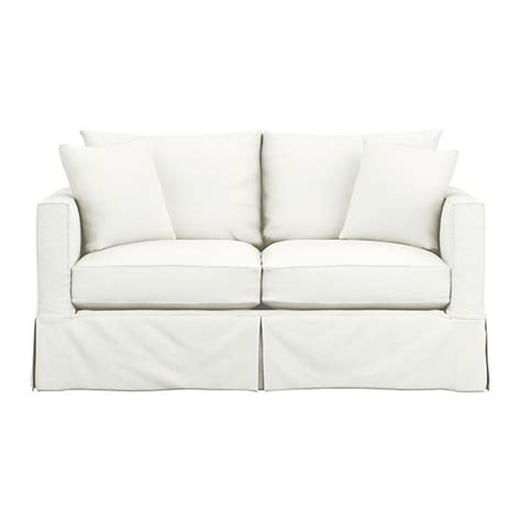 Loveseat Sleeper Slipcovers by Willow Sleeper Sofa Snow Crate And Barrel