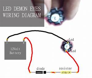 How To Make Demon Eye On Lens Projector