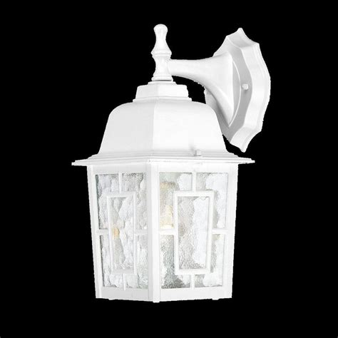 outdoor wall mount fixture white single light exterior