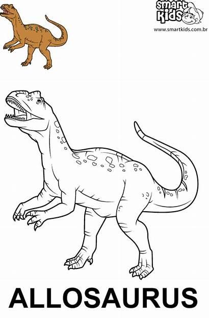 Allosaurus Colorir Desenho Dinossauros Smartkids Desenhos Imprimir