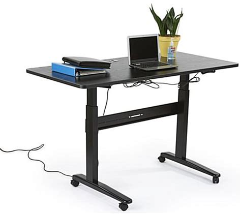 electronic adjust desk 29 quot to 49 quot black tabletop