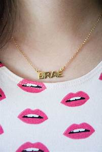 24k gold plated block letters name necklace letters With name necklace individual letters
