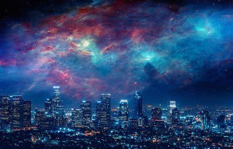 wallpaper city sky beautiful stars space art