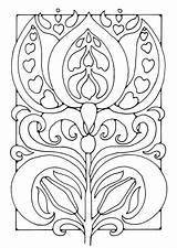 Colorare Fiore Disegno Blume Malvorlage Coloring Flor Colorear Dibujo Flower Bloem Kleurplaat Nouveau Embroidery Corner Edupics Patterns Visit Craft Drawing sketch template