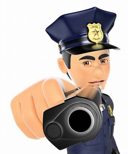 Gun Pointing Policeman 3d Canva Bodyguard Textures