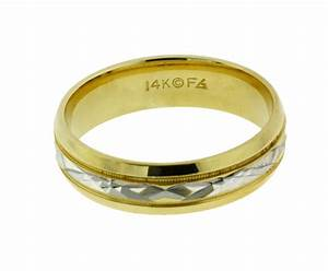 frederick goldman men39s wedding band in 14k 2 tone gold With frederick goldman wedding rings