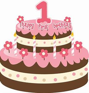 1st Birthday Cake Clipart