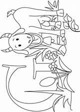 Goat Kleurplaat Geit Ferme sketch template