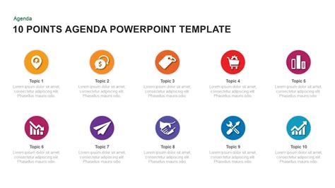 point agenda template  powerpoint  keynote