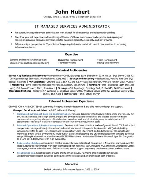 Resume Filtering System by Network Operations Center Manager Resume