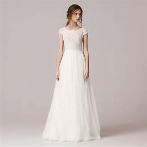 short sleeve lace wedding dresses 2016 chiffon simple With simple short wedding dresses with sleeves