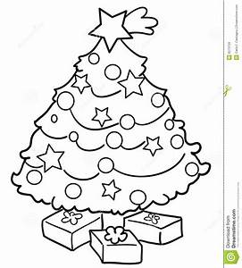 Christmas tree with gifts stock vector. Image of gift ...