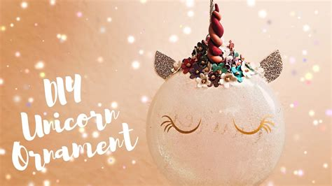 unicorn ornaments polymer horn diy cricut