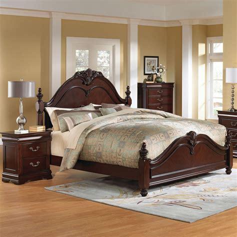 cherry bedroom set standard furniture westchester 3 poster bedroom set