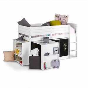 Lit Demi Hauteur : lit demi hauteur free lit demi mezzanine lit mi hauteur ~ Premium-room.com Idées de Décoration