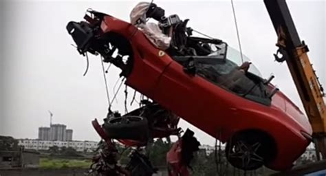 One person was killed and a young woman critically injured when the ferrari car they were travelling in crashed into a a road divider on national the accident took place around 9.30 am. Businessman Killed After Crashing Ferrari California T At Exotic Convoy In India | Carscoops