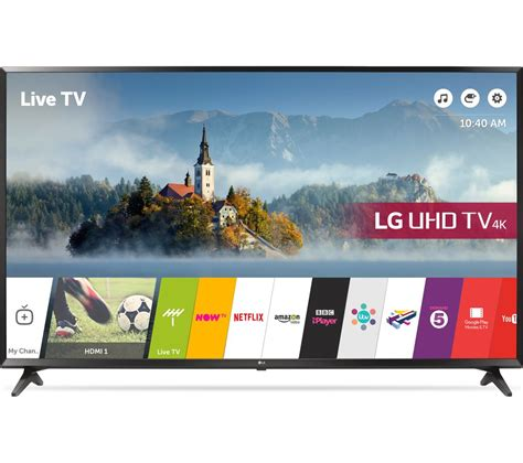 lg 65uj630v 65 quot smart 4k ultra hd hdr led tv deals pc world