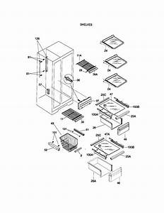 Shelves Diagram  U0026 Parts List For Model 25358082898 Kenmore