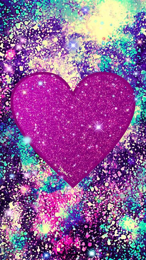 Here are only the best colorful hearts wallpapers. Sparkle Grunge Heart Wallpaper #iPhone #android #phonewallpaper #wallpaper #hearts   Heart ...