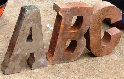 rustic metal letters alphabet