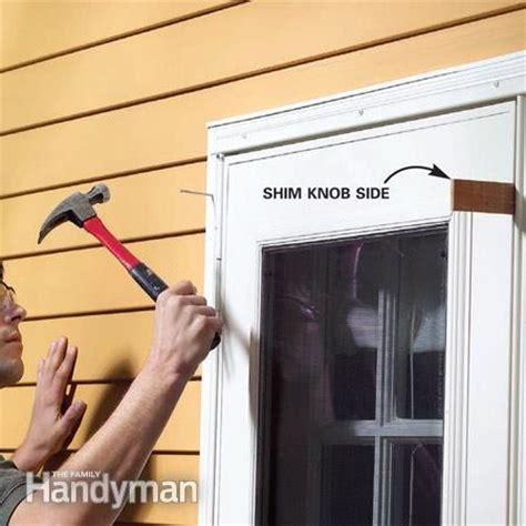 how to fix a screen door how to adjust doors the family handyman
