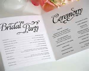 wedding ceremony program template best images