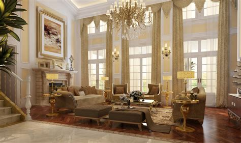 rustic formal dining luxury villa living room interior design