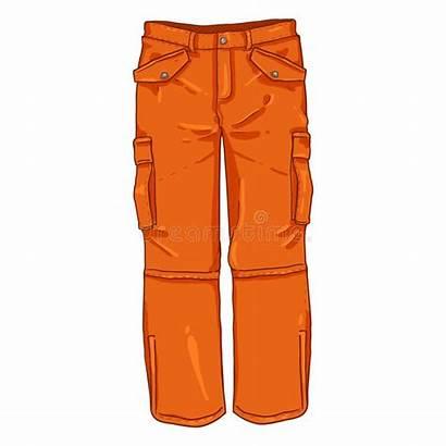 Trousers Illustration Vector Cartoon Winter Orange Single