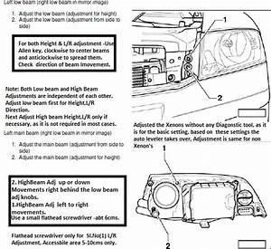 Headlight Full Beam Adjustment