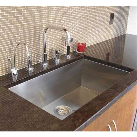 single bowl undermount sink 36 inch stainless steel undermount single bowl kitchen