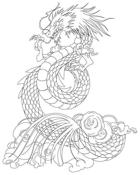 shiryu dragon tattoo lineart  azraeuz cablleros