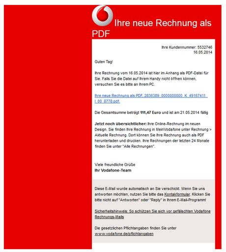 achtung spam  der inbox falsche rechnungen   mail
