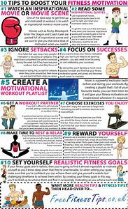 10 motivation tips to lift your fitness program infographic