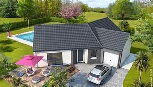 beautiful maison moderne deplainpied ideas awesome With attractive plan de maison cubique 15 maison plein pied moderne mc immo