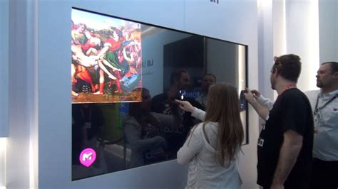 ces  lgs    touch screen uhd tv prototype youtube