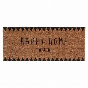 Paillasson Maison Du Monde : paillasson happy home 25 x 55 cm claire maisons du monde ~ Teatrodelosmanantiales.com Idées de Décoration