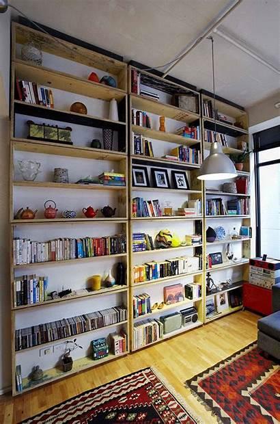 Shelves Rotating Wood Reclaimed Walls Wall Bookcase