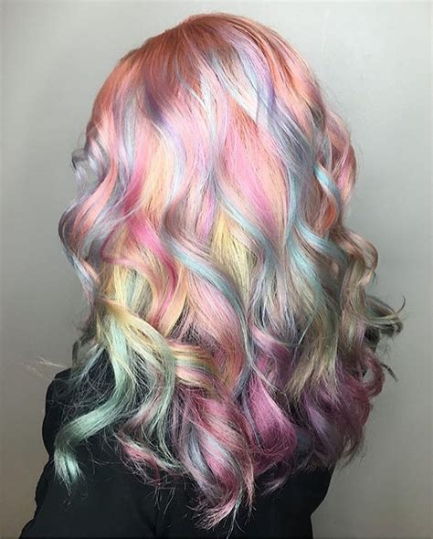 Gorgeous Pastel Rainbow Hair By Caitlinfordhair Oil