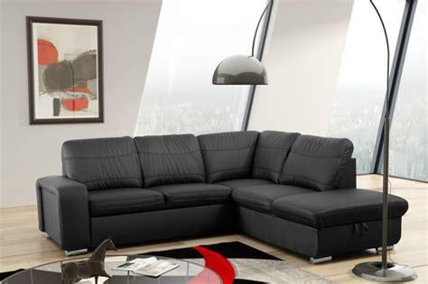 schlafsofa sofa couch ecksofa eckcouch  schwarz mit