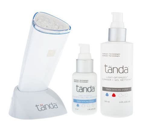 acne light therapy tanda clear acne light therapy treatment a90386 qvc
