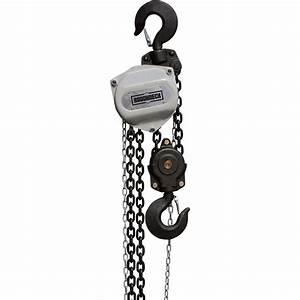 Roughneck Manual Chain Hoist  U2014 5 Ton  10ft  Lift