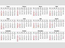 calendario de 2004